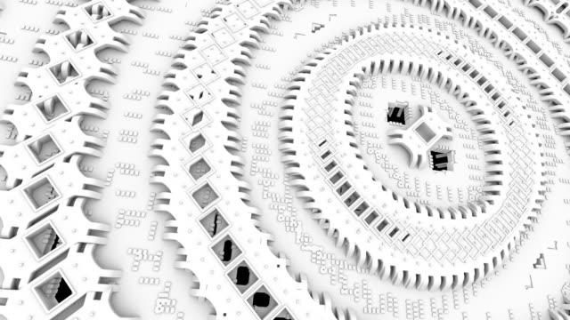 vídeos y material grabado en eventos de stock de futuristic nanotechnology molecular machine - estructura molecular