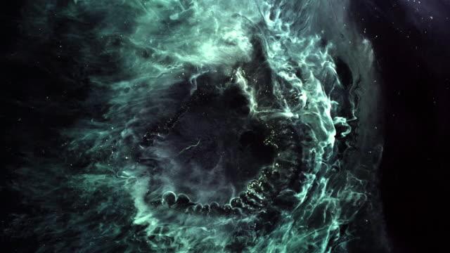 vídeos de stock e filmes b-roll de futuristic neon outer space background - bola de plasma