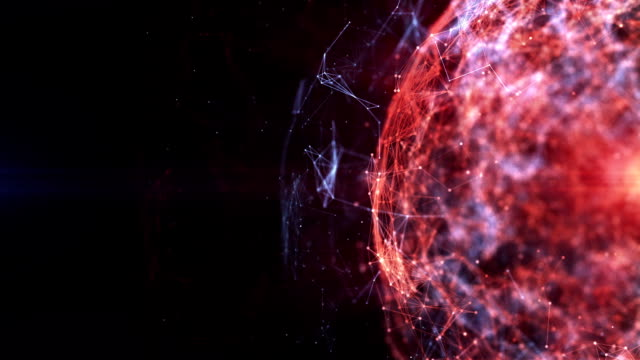 futuristic network background. hd1080 motion graphics - wire frame model video stock e b–roll