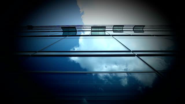 Futuristische Bürogebäude-Zeitraffer