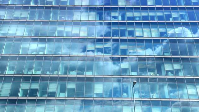 Futuristic office building - time lapse