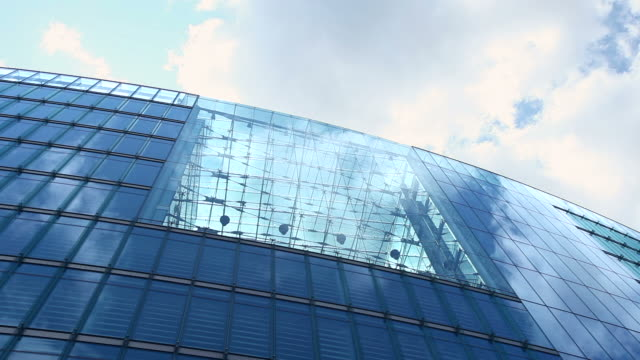futuristic office building - low angle view stock videos & royalty-free footage