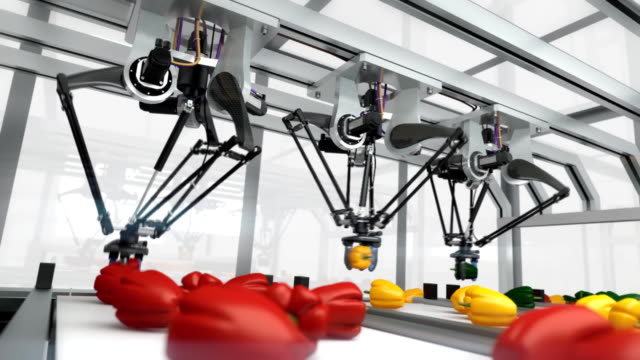 futuristic packing line - seamless loop - conveyor belt stock videos & royalty-free footage