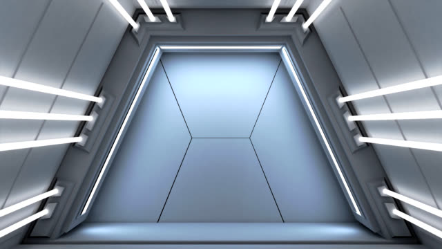 futuristic passage, leading to storage room