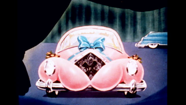 futuristic pink 'girly' car with brassiere - bra stock videos & royalty-free footage