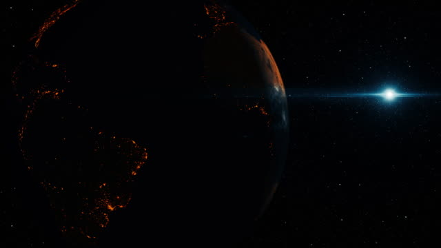 futuristic planet earth with galaxy - supernova stock videos & royalty-free footage