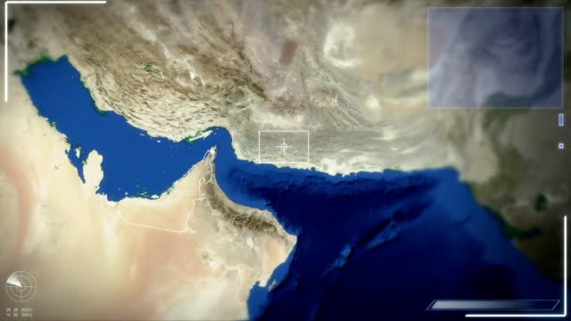 Futuristic Satellite Image View Of Abu Dhabi
