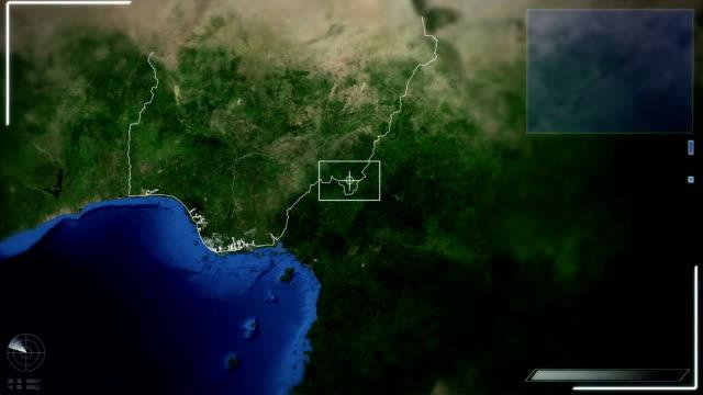 futuristic satellite image view of abuja - nigeria stock videos and b-roll footage