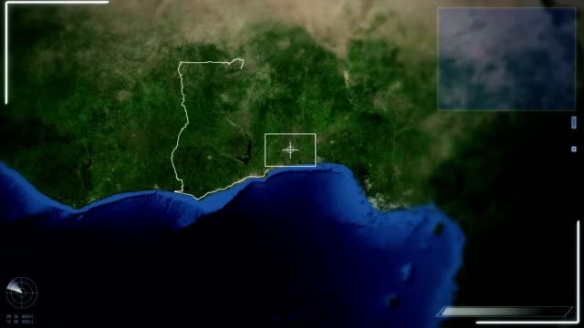 futuristic satellite image view of accra - parabolantenn bildbanksvideor och videomaterial från bakom kulisserna