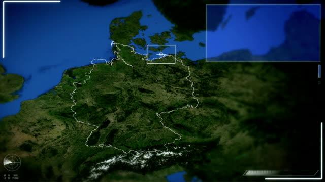futuristische satelliten bild blick auf berlin - map stock-videos und b-roll-filmmaterial