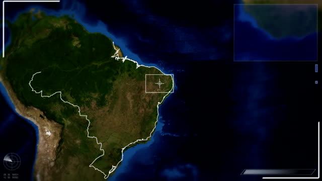 vídeos de stock, filmes e b-roll de futurista vista de brasília imagem de satélite - mapa