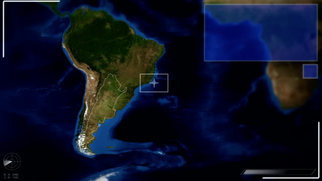 futuristic satellite image view of buenos aires - argentina stock videos and b-roll footage
