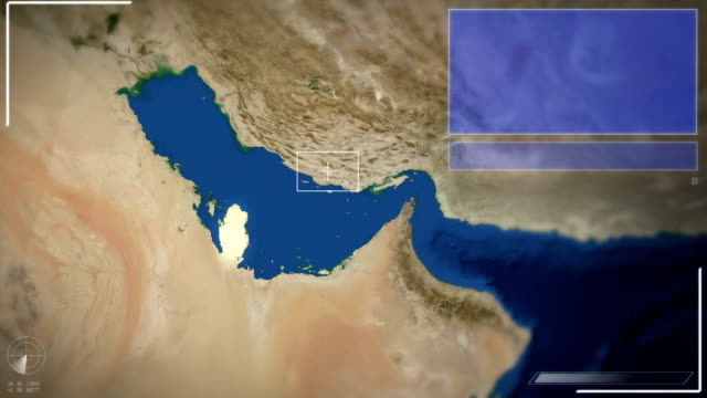 futuristic satellite image view of doha - doha stock videos & royalty-free footage