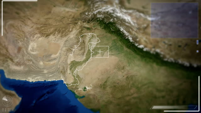 Futuristic Satellite Image View Of Islamabad