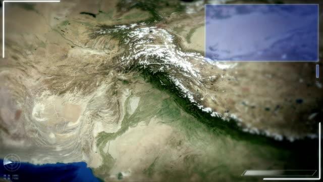 futuristische satelliten-ansicht von kabul - kabul stock-videos und b-roll-filmmaterial