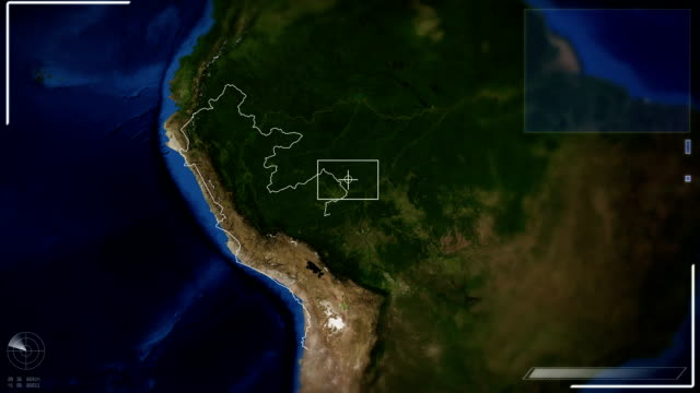 futuristic satellite image view of lima - lima peru stock videos and b-roll footage