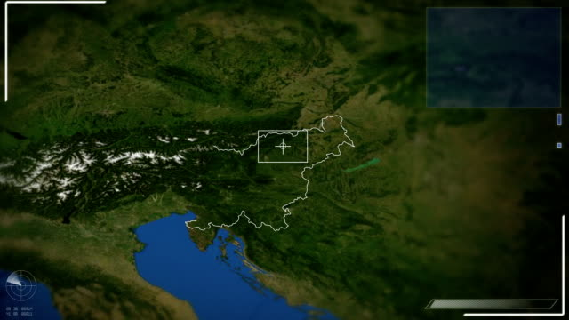 futuristic satellite image view of ljubljana - slovenia stock videos & royalty-free footage