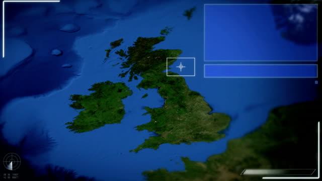 Futuristische Satelliten-Blick auf London