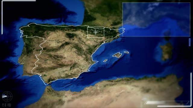 Futuristische Satelliten Bild Blick auf Madrid
