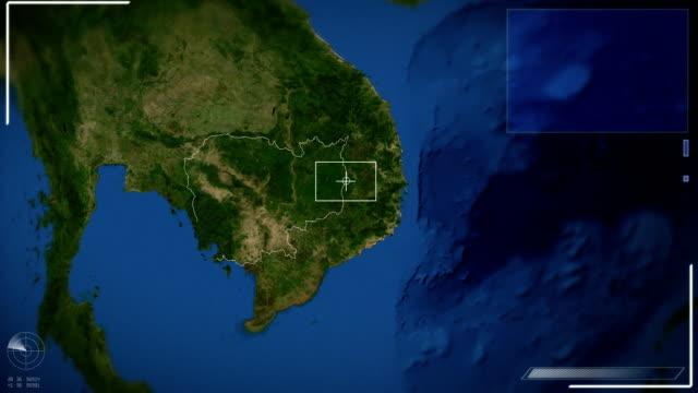 futuristic satellite image view of  phnom penh - phnom penh stock videos and b-roll footage