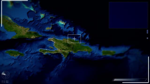 stockvideo's en b-roll-footage met futuristic satellite image view of  phnom port au prince - haïti