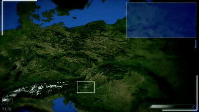 vídeos y material grabado en eventos de stock de futurista satélite imagen vista de la praga - república checa