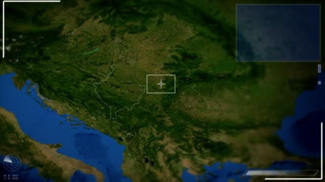 Futuristische Satelliten-Ansicht von Pristina