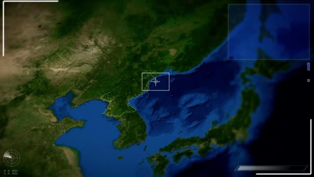 Futuristic Satellite Image View Of Pyongyang