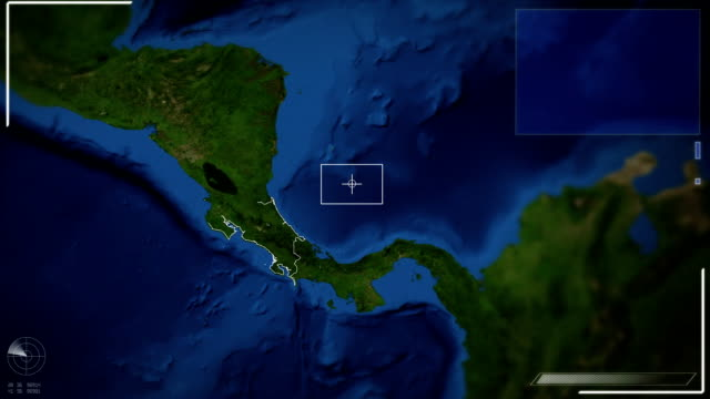 futuristic satellite image view of san jose - costa rica stock videos and b-roll footage