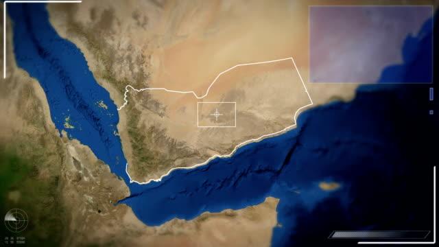 Futuristische Satelliten Bild Ausblick auf Sana'a