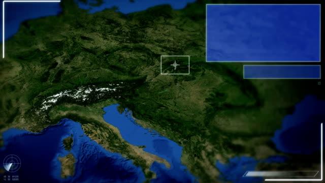 Futuristische Satelliten Bild Blick auf Wien.