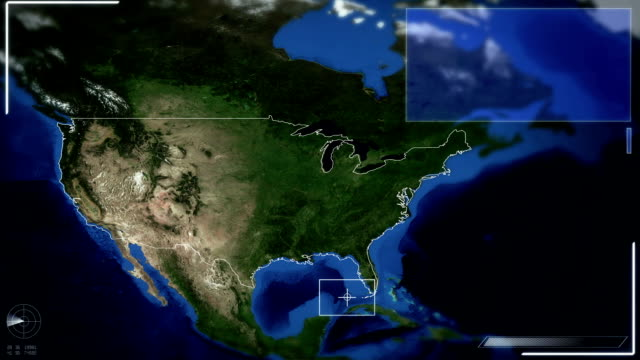 futuristic satellite image view of washington - arlington virginia stock videos and b-roll footage
