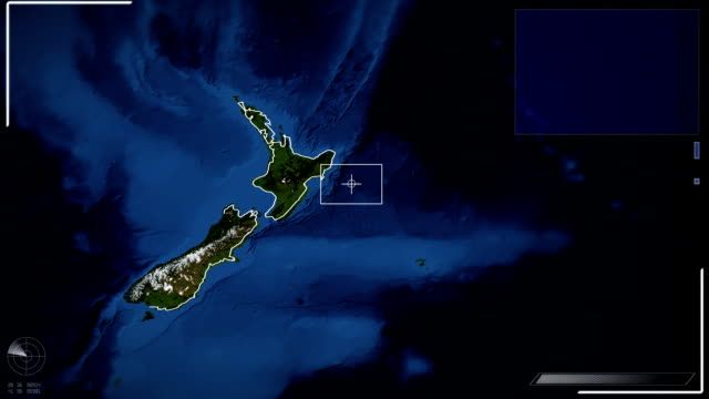 futuristic satellite image view of wellington - new zealand stock videos & royalty-free footage