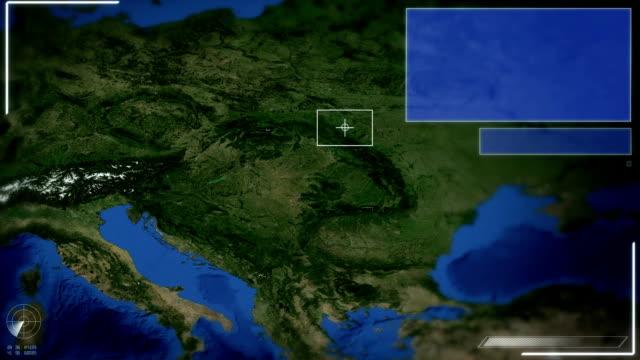 Futuristic Satellite Image View Of Zagreb