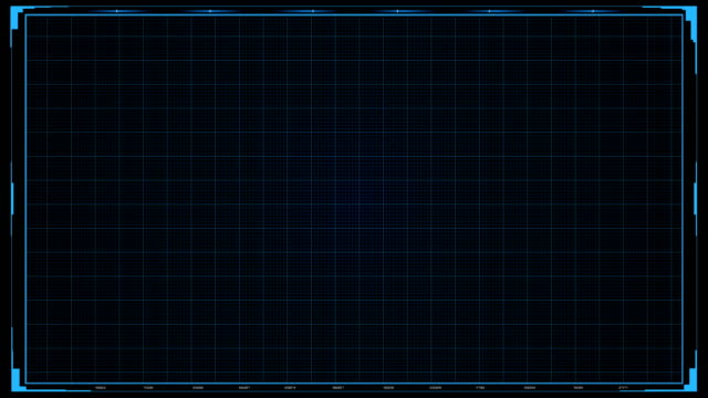 futuristic sci fi hud grid background - graphical user interface stock videos & royalty-free footage