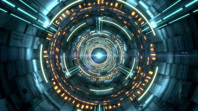 futuristic scifi tunnel - tunnel stock videos & royalty-free footage