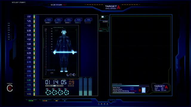 vídeos de stock e filmes b-roll de interface futurista ecrã de gráficos - vingança