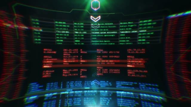 Futuristic screen with programming code