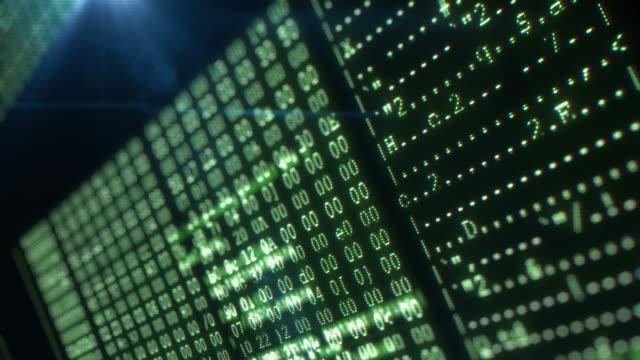 vídeos y material grabado en eventos de stock de pantalla futurista con código de programación - java
