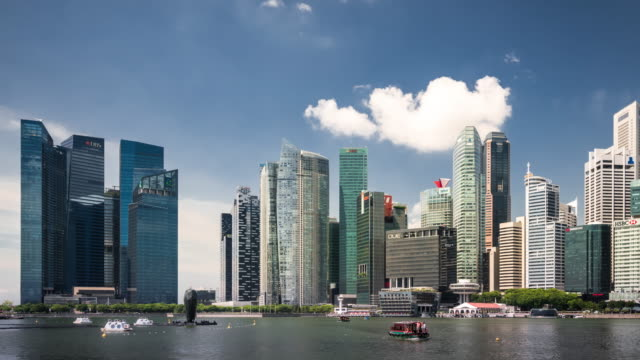 T/L WS PAN Futuristic Skyscrapers in Singapore / Singapore