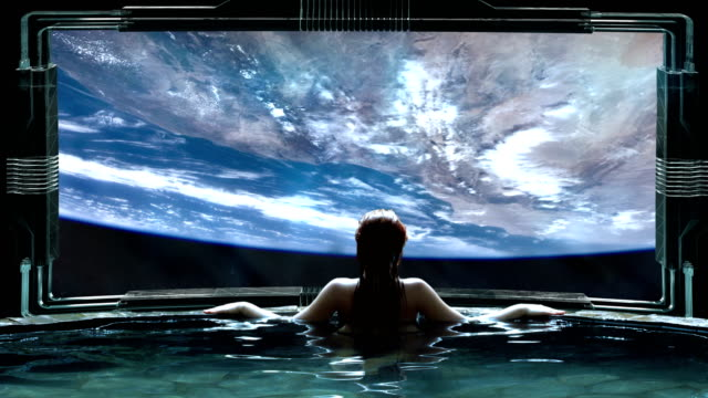 futuristic spa meditation. transcendence metaphor - surrealism stock videos & royalty-free footage