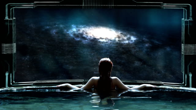futuristic spa meditation. transcendence metaphor - spaceship stock videos & royalty-free footage