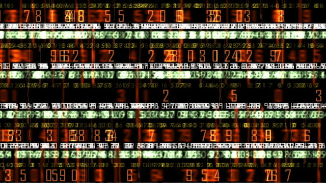 Futuristic Technology Numerical Data Ticker
