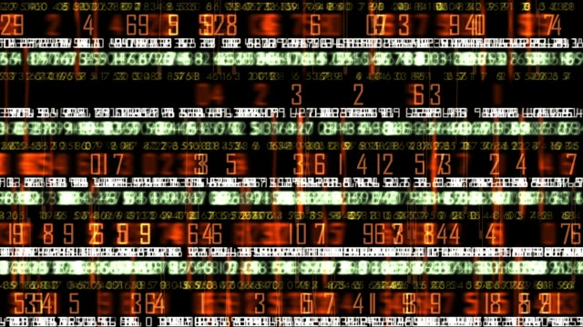 futuristic technology numerical data ticker - exchange rate stock videos & royalty-free footage