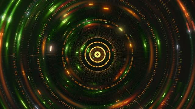 futuristische technologietunnel hintergründe - bright stock-videos und b-roll-filmmaterial