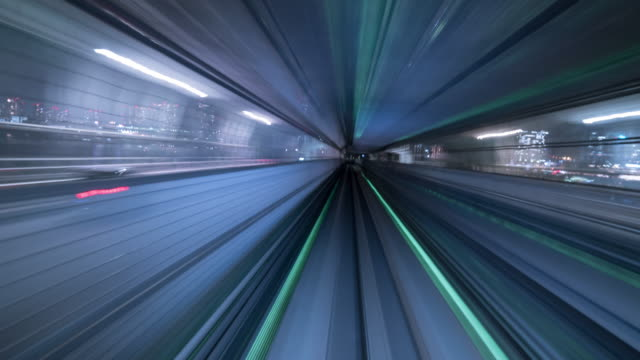 futuristic timelapse tunnel - railway track stock videos & royalty-free footage