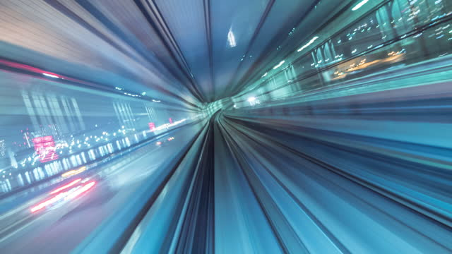 futuristic timelapse tunnel - flowing stock videos & royalty-free footage