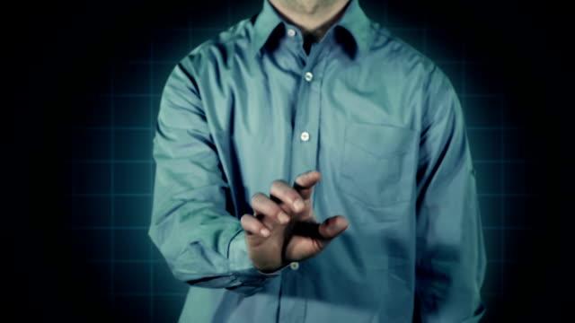 Futuristic Touch Screen Blue