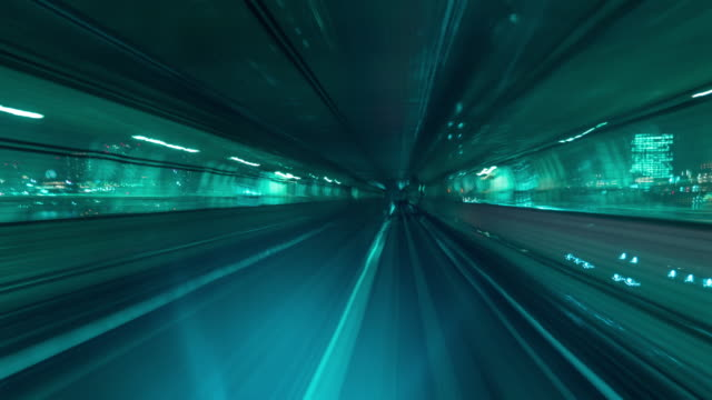 futuristic tunnel approce destination - tunnel stock videos & royalty-free footage