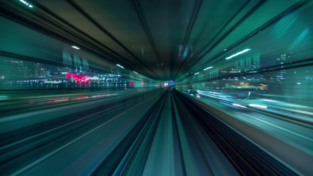 vídeos de stock e filmes b-roll de futuristic tunnel green - roxo